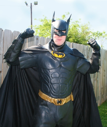 Aaron as Batman